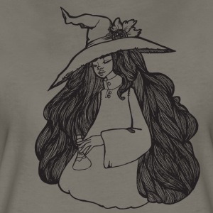cute witch preparing a potion - Women's Premium T-Shirt