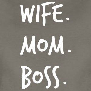 Wife Mom Boss Shirts - Mothers Day Shirt - Women's Premium T-Shirt