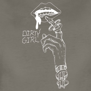 Dirty Girl (white) - Women's Premium T-Shirt