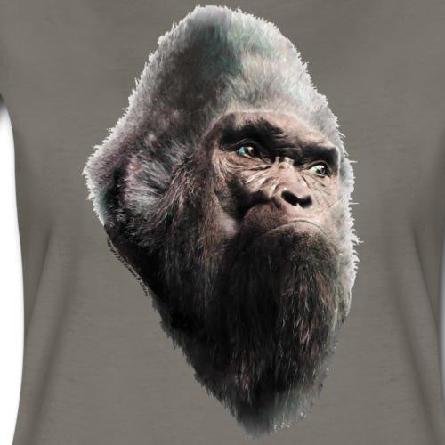 Sasquatch Bigfoot Vintage Portrait - Women's Premium T-Shirt