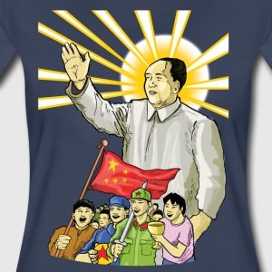 Mao Waves to the People - Women's Premium T-Shirt