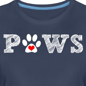 Paw animal graphic for dog and animal lovers. - Women's Premium T-Shirt