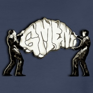 GREAT MINDED ENT WALL ART BEING HUNG BY TWO MEN - Women's Premium T-Shirt