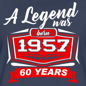 60 YEARS Birthday 1957 a legend T-Shirt - Hoodie - Women's Premium T-Shirt