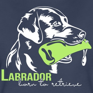 Labrador born to retrieve - Women's Premium T-Shirt