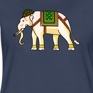 Watercolor Tribal Elephant Clothing Artwork - Women's Premium T-Shirt
