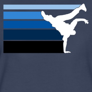 B BOY blue gradient pattern - Women's Premium T-Shirt