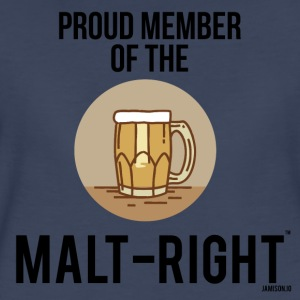 MALT-RIGHT BROWN BACKGROUND - Women's Premium T-Shirt