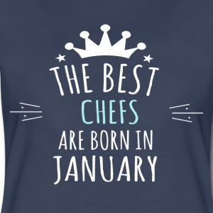 Best CHEFS are born in january - Women's Premium T-Shirt