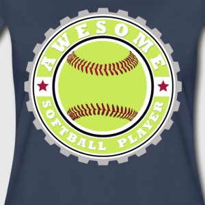 Symbol of an Awesome Softball Player - Women's Premium T-Shirt