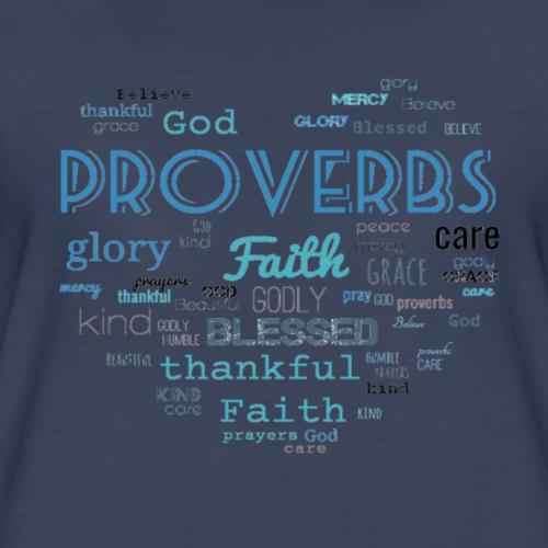 Proverbs in a shape of an heart - Women's Premium T-Shirt