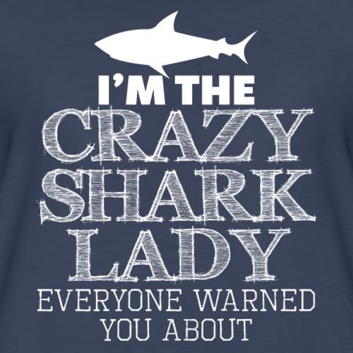 CRAZY SHARK LADY - Women's Premium T-Shirt