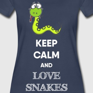 KEEP CALM AND LOVE SNAKES - Women's Premium T-Shirt