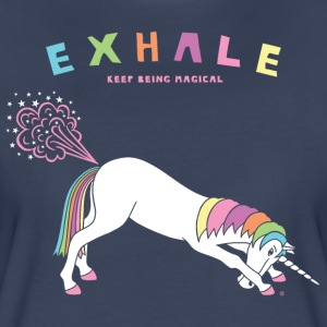Down Dog Unicorn Exhale - Women's Premium T-Shirt