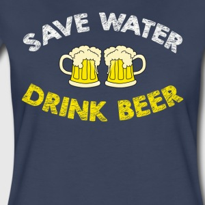 Save Water Drink Beer Funny Beer Shirt - Women's Premium T-Shirt
