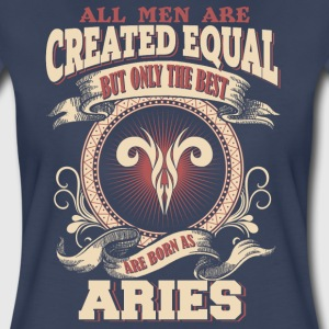 The Luckiest Men Are Born As Aries - Women's Premium T-Shirt