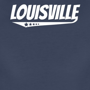 Louisville Retro Comic Book Style Logo - Women's Premium T-Shirt