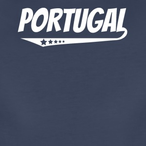 Portugal Retro Comic Book Style Logo Portuguese - Women's Premium T-Shirt