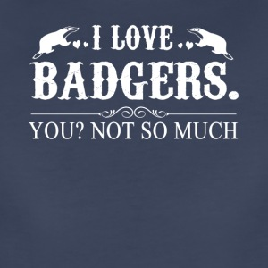 I Love Badgers Tee Shirt - Women's Premium T-Shirt