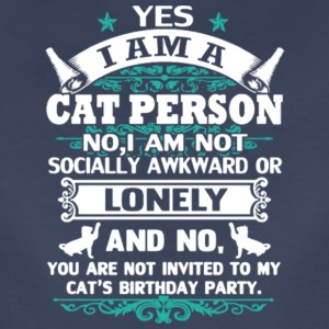 Yes I Am A Cat Person T Shirt - Women's Premium T-Shirt