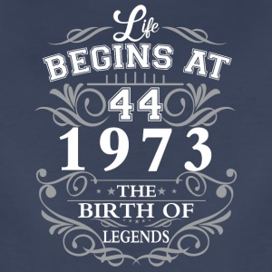 Life begins 44 1973 The birth of legends - Women's Premium T-Shirt