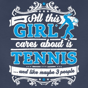 All This Girl Cares About Is Tennis Funny Shirt - Women's Premium T-Shirt