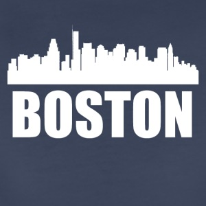 Boston MA Skyline - Women's Premium T-Shirt