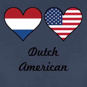 Dutch American Flag Hearts - Women's Premium T-Shirt