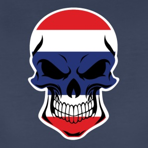 Thai Flag Skull - Women's Premium T-Shirt