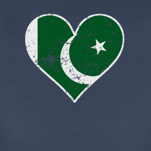 Distressed Pakistani Flag Heart - Women's Premium T-Shirt