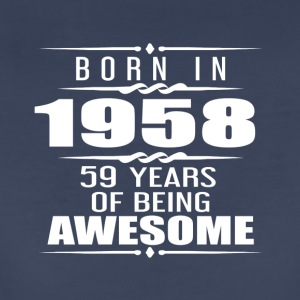 Born in 1958 59 Years of Being Awesome - Women's Premium T-Shirt
