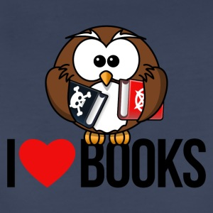 I LOVE BOOKS - Women's Premium T-Shirt