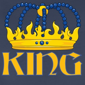Yellow blue king crown - Women's Premium T-Shirt