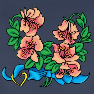 pink_and_blue_flowers - Women's Premium T-Shirt