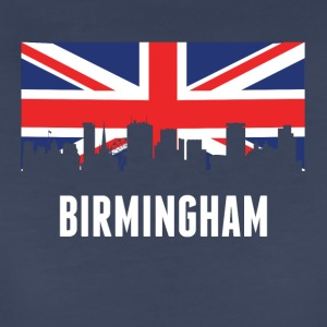 British Flag Birmingham Skyline - Women's Premium T-Shirt