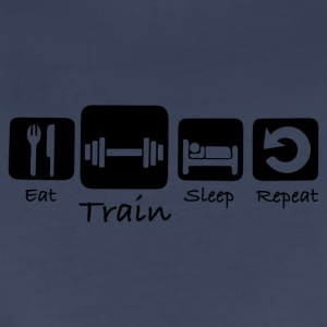 Eat Train Sleep Repeat - Women's Premium T-Shirt