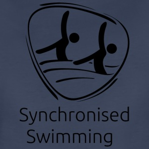 Synchronised_swimming_black - Women's Premium T-Shirt
