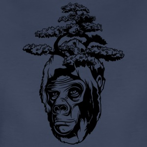 Gorilla with tree on head - Women's Premium T-Shirt