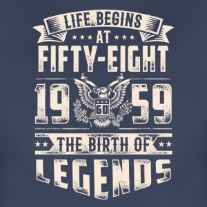 Life Begins At Fifty Eight Tshirt - Women's Premium T-Shirt