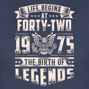 Life Begins At Forty Two Tshirt - Women's Premium T-Shirt