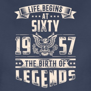 Life Begins at Sixty Legends 1957 for 2017 - Women's Premium T-Shirt