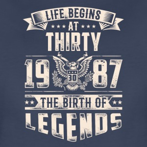 Life Begins at Thirty Legends 1987 for 2017 - Women's Premium T-Shirt