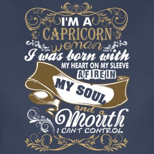 Im A Capricorn Woman I Was Born With My Heart - Women's Premium T-Shirt