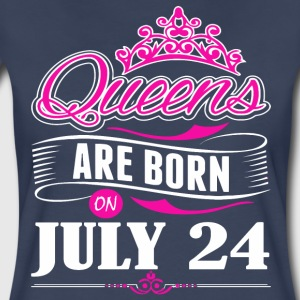 Queens are born on JULY 24 - Women's Premium T-Shirt