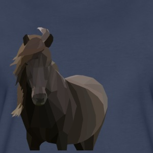 Low Poly Icelandic Horse - Women's Premium T-Shirt