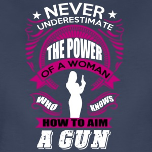 A WOMAN WITH GUN T SHIRT - Women's Premium T-Shirt