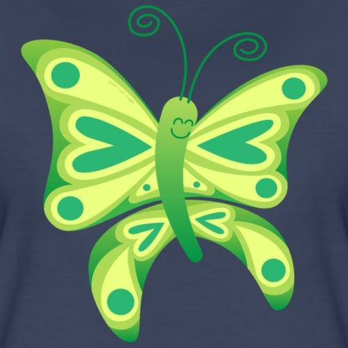 Smiling butterfly exhibiting its beautiful wings - Women's Premium T-Shirt