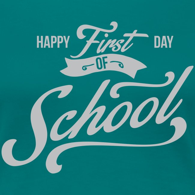 1st Day of School gray