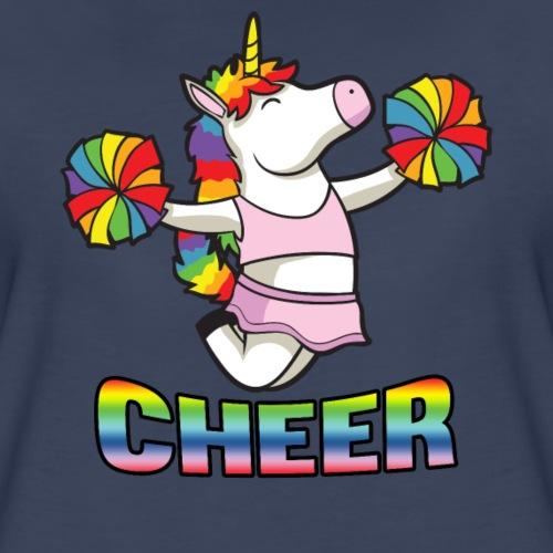 Cheer Unicorn - Women's Premium T-Shirt