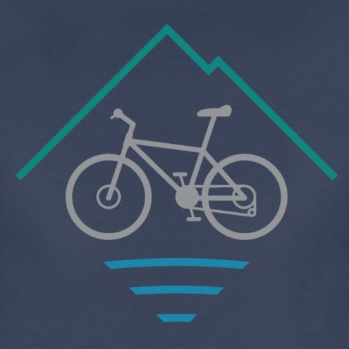 Outdoor Mountain Bike Logo - Women's Premium T-Shirt